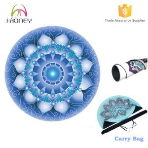 Printed Round Yoga Mat Coral Free Yoga Bag pictures & photos