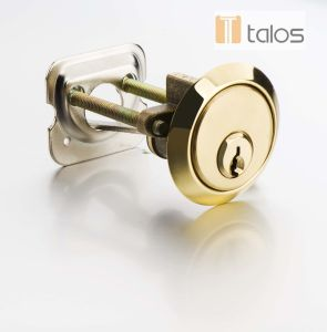 Euro Satin Brass Rim Cylinder Lock Keyed Alike Pair pictures & photos