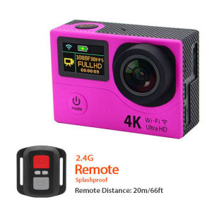 H3 Dual Screen Action Camera 4k Sport Travel Camera Waterproof DV DVR 170d Lens pictures & photos