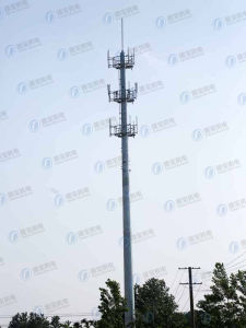 Durable Electric Hot-DIP Galvanized Telecommunication Monopole