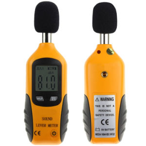 0.1dB Noise Decibel Monitor Air Shock Pressure Tester LCD Mini Portable Voice Sound Level Meter pictures & photos