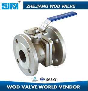 ANSI ASTM-CF8 CF8m 3inch 4inch Flange BV Ball Valve pictures & photos