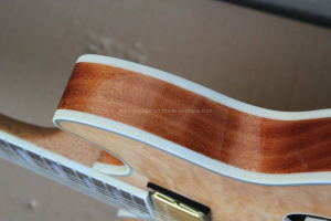 Hanhai Music / Natural Wood Color Electric Guitar (335) pictures & photos