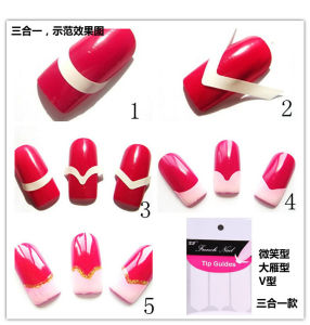 French Nail Art Tips Guides Sticker DIY Stencil Tool pictures & photos