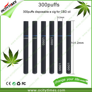 Ocitytimes Wholesale 300puffs Empty Disposable Electronic Cigarette for Cbd Oil pictures & photos