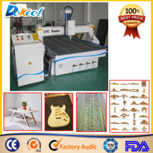 Customized Vacuum Table CNC Wood Guitar/ Plate/Furniture Mill Carving Machine pictures & photos