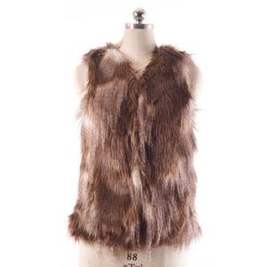 Ladies Fake Fur Vest Ffm0233 pictures & photos