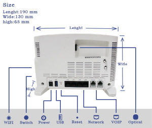 Factory Price FTTH Gpon 4ge+Pots+WiFi Ont Device pictures & photos