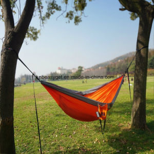 Single & Double Camping Hammock with Hammock Tree Straps, Portable Parachute Nylon Hammock for Backpacking Travel Esg10104 pictures & photos