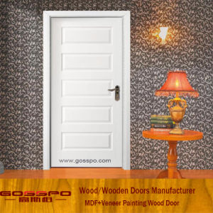 White Paint Mahogany MDF Venner Panel Door (GSP8-037) pictures & photos
