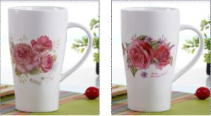 11oz Ceramic Fancy Tea Mug with Decals on Both Sides pictures & photos