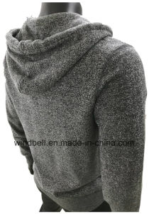 Soft Leisure Fleece Hoody for Men with Yarn Dye pictures & photos