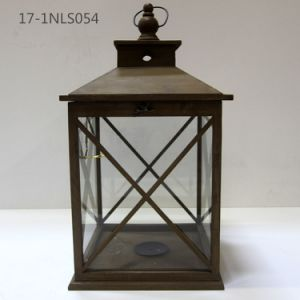 Shabby Antique with Iron Top and Handle of Wooden Unique Lanterns pictures & photos