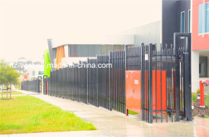 Haohan High-Quality Exterior Security Sliding Wrought Iron Fence Door 0 pictures & photos