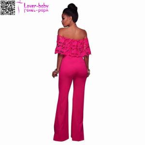 Donovan Lime Lace Top Strapless Romper Lady Jumpsuit Clothes (L55332) pictures & photos