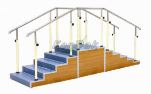 Two-Sided Walking Training Staircase with Adjustable Height pictures & photos