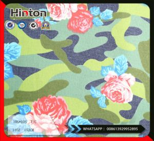 Flower Camouflage Print Denim Fabric 11oz for Coat pictures & photos