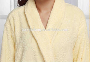 Newest Design Cotton Jacquard Shawl Collar Wholesale Bathrobe pictures & photos