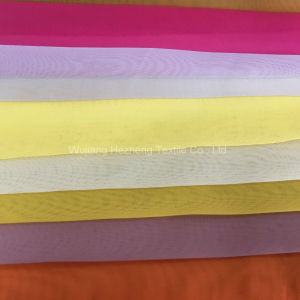 150cm Width Polyester Telilon Organdy Voile Fabric for Curtain pictures & photos