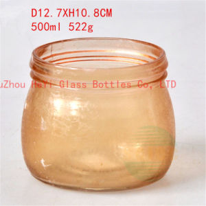 Food Glass Seal Jar Storage Glass Container 550ml with Lid pictures & photos