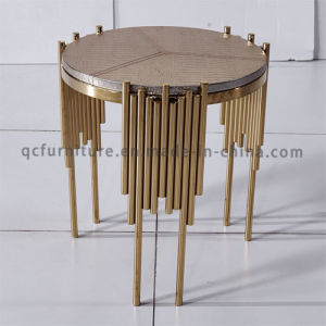 Rose Golden Sideboard Round Side Table Corner Table pictures & photos