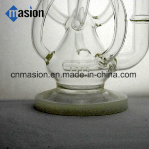 Recycler Glass Smoking Pipe Glass Pipe Oil Rig (BY009) pictures & photos