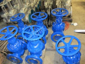 DIN Standard Cast Steel Pn63/Pn64 Non-Rising Stem Gate Valve for Thermal Power Plant pictures & photos
