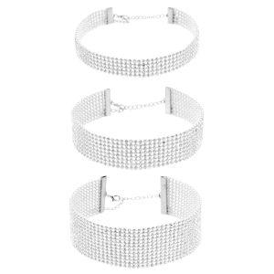 Fashion Women Full Diamond Crystal Rhinestone Chokers Necklace Set Wedding Jewelry Gift pictures & photos
