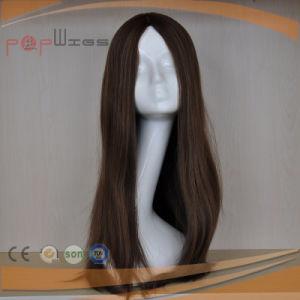 Beautiful Silk Top Design Hot Selling Long Hair Full Hantied Women Wig pictures & photos