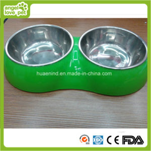 Double Pet Bowl Dog Feeding Bowl pictures & photos