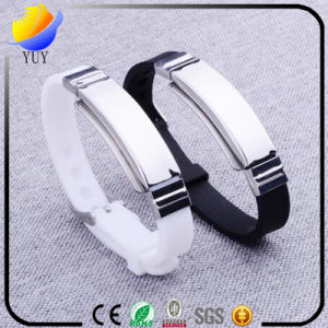 Fashion Silicone Wristband with Stainless Steel Clip pictures & photos