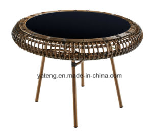 Rattan Outdoor Furniture Aluminum Frame Dining Table Set with Four Chairs pictures & photos