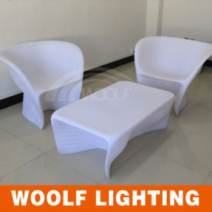 Hot Sales Outdoor Rechargeable Colorful Furniture LED Single Sofa pictures & photos