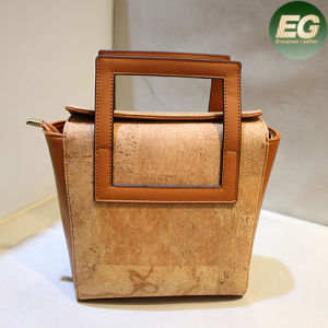 Fashion Customise Cork Leather Handbag for Lady Elegant Satchel Bags Cork3 pictures & photos