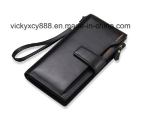 Multifunction Fashion Genuine Leather Men Business Clutch Billfold Wallet (CY3714) pictures & photos