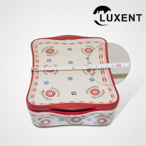 Hot Sale Porcelain Large Wavy Shape Baking Tray with Lid pictures & photos