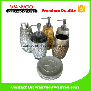Hot Sale Silvery Ceramic Lotion Dispenser with Soap Dish pictures & photos
