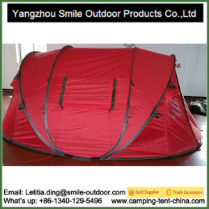 Korea Market 4 Person Double Layer Camping Pop up Tent pictures & photos