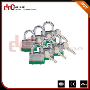 Dual Locking Keyed Different Laminated Steel Keyed Padlock pictures & photos