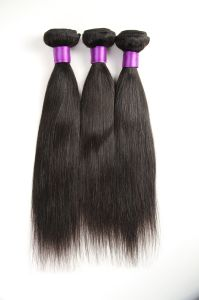 Quality Bundle Peruvian Virgin Hair Straight Hair Weft 14inches pictures & photos