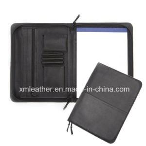 Zipper Closure Leather Compendium Business File Folder pictures & photos