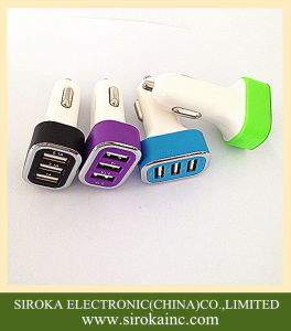 Portable Triple USB Car Charger Adapter with 5V 5.2A pictures & photos