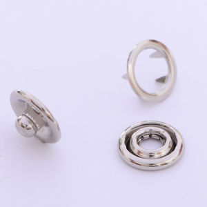 China Manufacturer of Fashion Metal Snap Ring Button pictures & photos