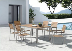 Aluminum Polywood Patio Furniture 6 Persons Dining Set