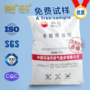 Semi Refined Paraffin Wax 58, Superfine, Granular, Sheet, Nubby pictures & photos