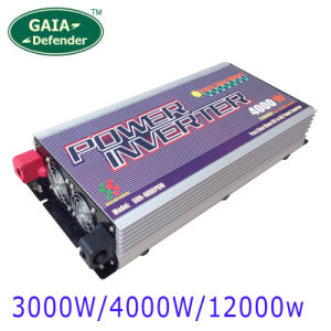 3000W 4000W Pure Sine Wave Power Inverter with Charger Peak 12000W DC 24V AC 120V 230V 240V Select LCD Display 10 Years Warranty