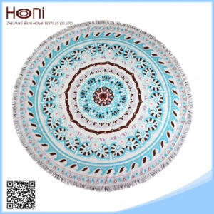 R-027 High Quanlity Cheap Wholesale Large Round Beach Towel pictures & photos