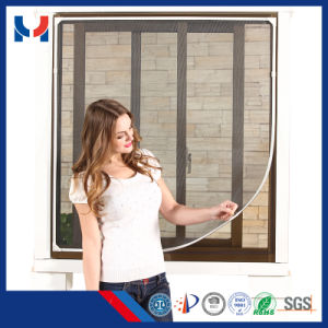 DIY Magnetic Fly Screen/Window Door Screen/Aluminum Frame Mosquito Netting Fly Screen Door pictures & photos