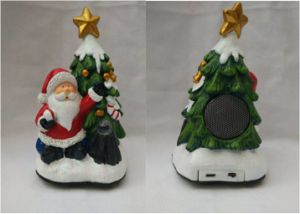 Portabel Night Light Polyresin Santa Claus Mini USB Bluetooth Speaker pictures & photos