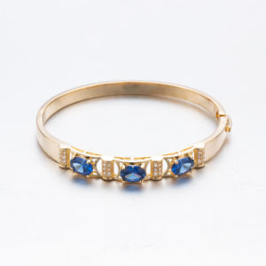 Rose Gold Plated Sapphire Zircon Fashion Jewelry Bangle pictures & photos